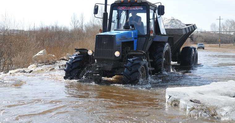 Челябинская область Тюлюк дорога размыло наводнение видео